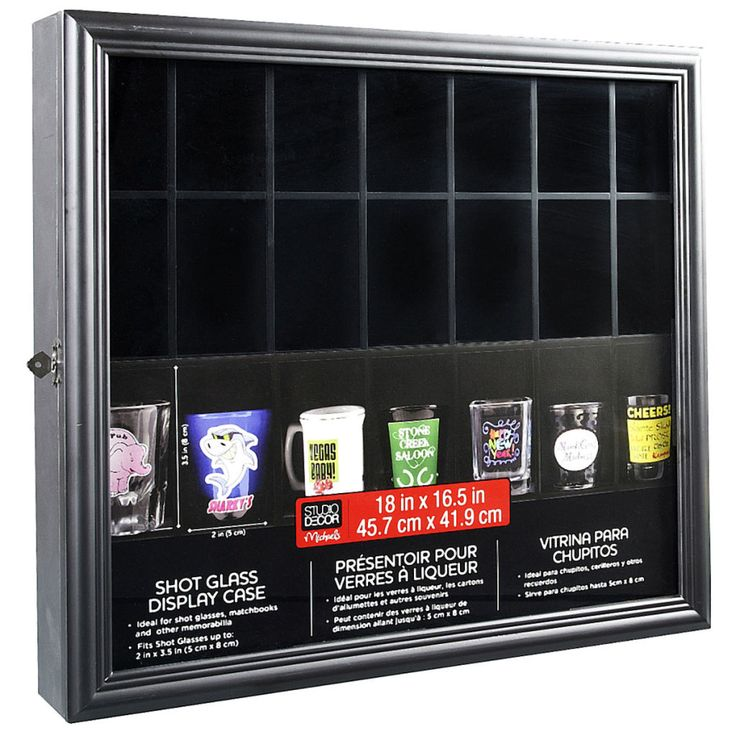 I wonder if this would fit lego minifigures.   Studio Décor® Shot Glass Display Case