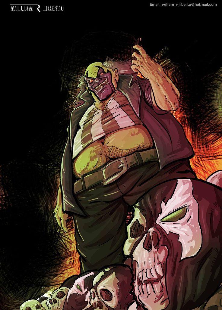 the violator by william r liberto #violator #commission #spawn #skrull #clown #sinister #macabre #farlene #comic #rpg #d&d #godofwar #cyberpunk