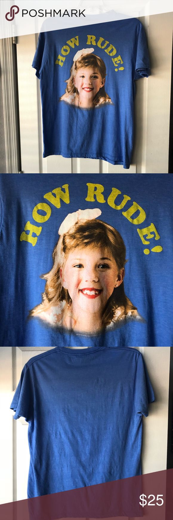 How rude! Stephanie Tanner from Full House shirt Only worn a couple of times and it is in excellent condition  Size men's large  Purchased at an urban outfitters a few years ago  Brand is ripple junction Urban Outfitters Shirts Tees - Short Sleeve