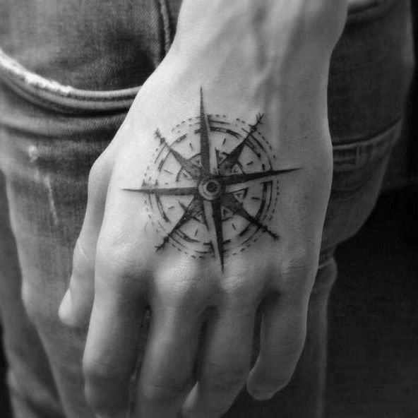 50 Simple Compass Tattoos For Men Directional Design Ideas Simple Compass Tattoo Compass Tattoo Compass Tattoo Men