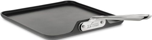 nice All-Clad 3021 Hard Anodized Aluminum Nonstick Square Griddle Specialty Cookware, 11-Inch, Black