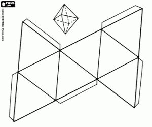 3D geometric shapes coloring pages printable games