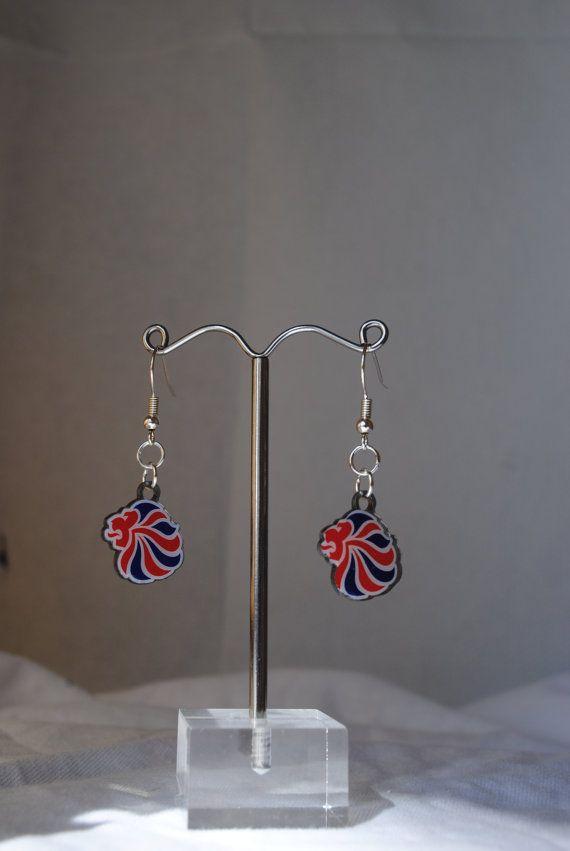 Team GB Themed Earrings by MinnieMollyJewellery on Etsy