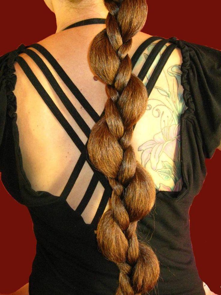Elf fantasy braid hair extension, handmade to order in all hair colors - highest quality kanekalon hair!