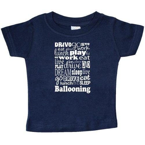Inktastic Ballooner Gift Idea Baby T-Shirt Ballooning Hobby Hobbies Enthusiast Eat Sleep Balloonist Balloon T-shirt Infant Tees Shower Clothing Apparel Hws, Infant Boy's, Size: 12 Months, Blue