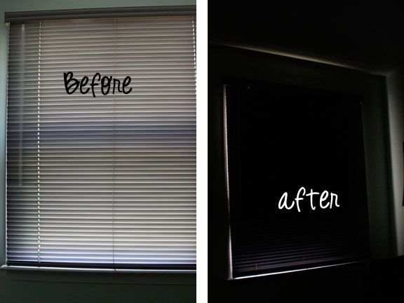 blackout blinds in a nursery