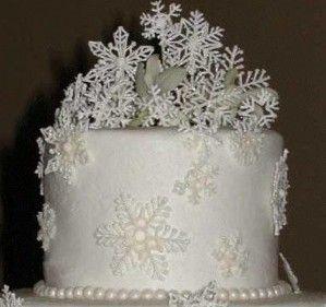 Новогодний торт «Снежинки», украшенный айсингом-шаг 1
