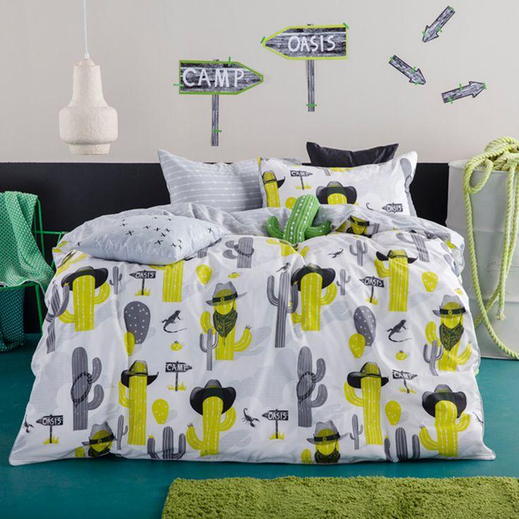 KAS Cactus Cowboys Quilt Cover Set   More Sizes Available by KAS Designer Kids on THEHOME.COM.AU