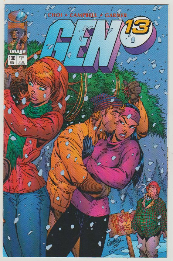 Gen 13 Vol 2 13C Holiday Variant Cover. by RubbersuitStudios
