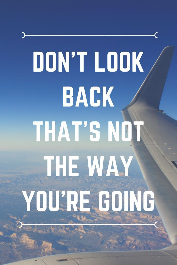 Don't Look Back, That's Not The Way You're Going http://www.queenclothing.co.uk/