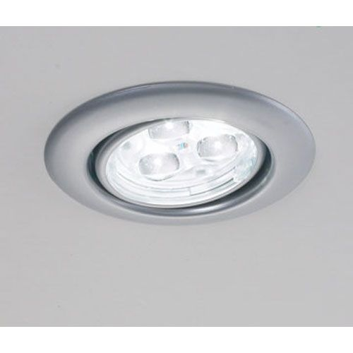 Ledra Trio Matte Chrome LED Recessed Ceiling Light Bruck Lighting Systems Line  Voltage Tri