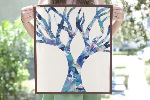 Mosaic Tree from Scrappy Bits Applique by Shannon Brinkley