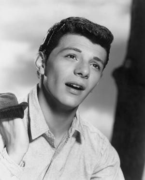 Headshot of singer and actor Frankie Avalon pictured in a publicity portrait issued for the film, 'Guns of the Timberland', USA, circa 1960. - Archive Photos/Getty Images