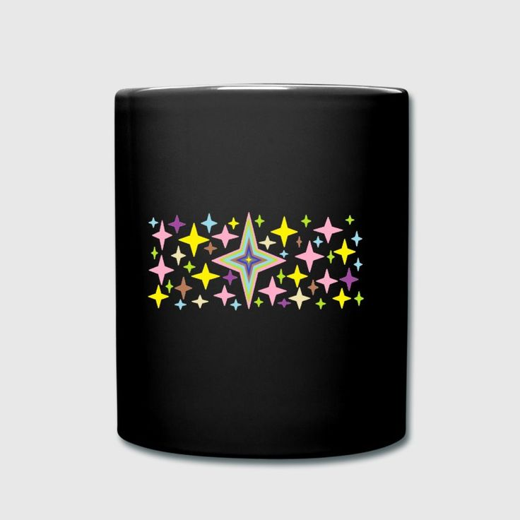 The multicoloured stars pattern .The design is attractive and soothing one.