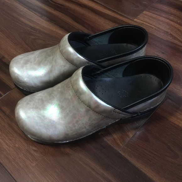 Dansko Nursing Shoes Pearlescent in color, worn only a handful of times. Still in perfect condition! Dansko Shoes Mules & Clogs
