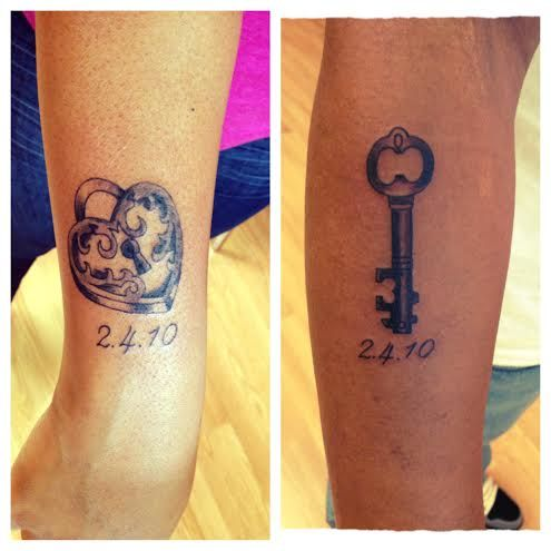 His and Her Lock and Key Tattoos | Impulse Ink Tattoo ...
