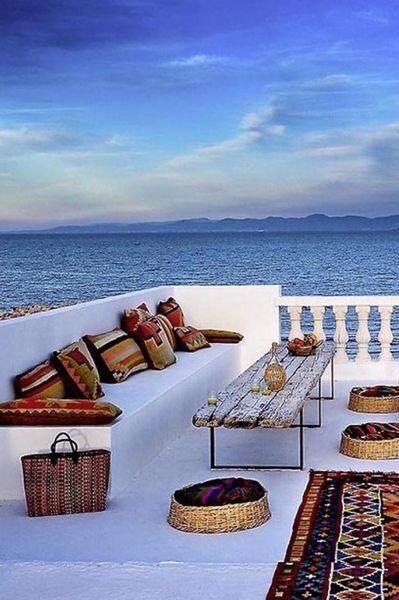 Rooftop. Terraço na praia