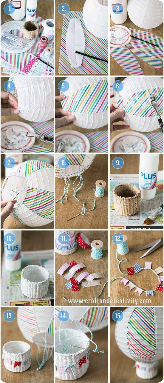 Paper lantern hot air ballons - by Craft & Creativity