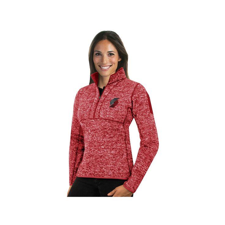 Women's Antigua Portland Trail Blazers Fortune Pullover, Size: Medium, Dark Red