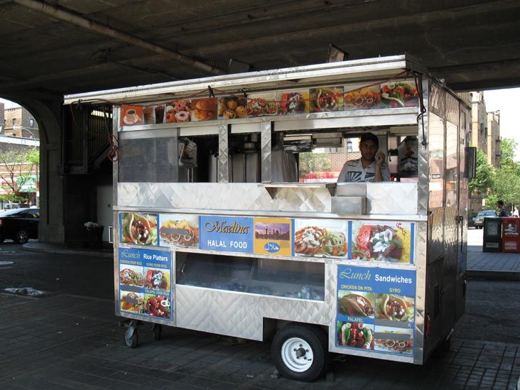 Madina Halal Food Cart, 46th Street Station, Sunnyside, Queens, May 31, 2010