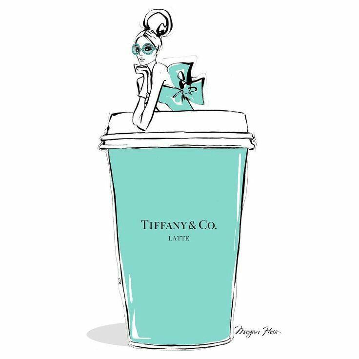 Gigantic Tiffany Latte to go please! Stylish illustration by the talentedMegan Hess. Twitter/Youtube/Bloglovin/Google+/Instagram/LinkedIn/Pinterest/Tumblr