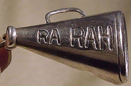 Sterling Silver Ra Rah Megaphone Cheerleader or Fraternity