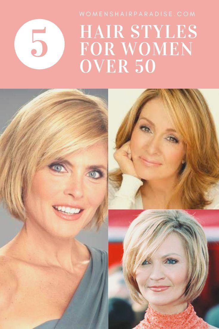 Top 5 Hair Styles For Women Over 50 Women S Hair Paradise Thick Hair Styles Hair Styles For Women Over 50 Medium Length Hair Styles