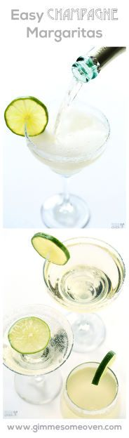 Champagne (Sparkling!) Margaritas -- a quick and easy drink that's perfect for New Year's Eve! gimmesomeoven.com