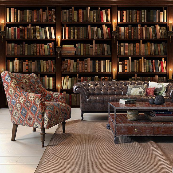 Бесплатная-Доставка-3D-стерео-ретро-книжная-полка-обои-росписи-библиотеки-исследование-спальня-гостевая-комната-обои.jpg (750×750)