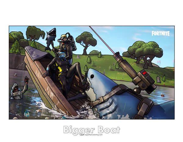 Fortnite Bigger Boat Coloring Page Bigger Boat Coloring Pages Boat