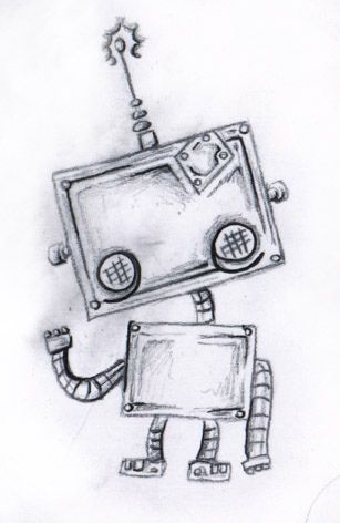 Cute Robot Tattoo Design by Chris Hatch Tattoos and Stuff, via Flickr