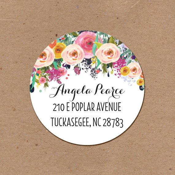 Set of (60) 2.5 inch round address labels.  The order will come with 60 labels. This item will ship within 3 days of purchase if purchased