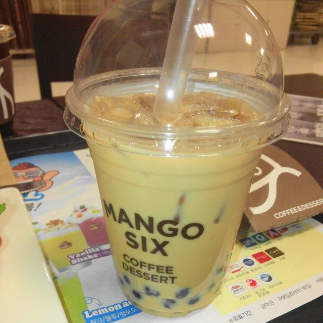 Mango Six Coffee Korea - Bubble Tea
