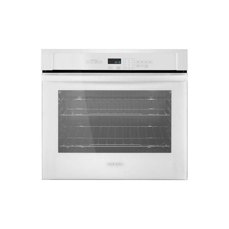 Amana AWO6313SF 30 Inch Wide 5 Cu. Ft. Single Electric Oven with Temp Assure Coo White Ovens Electric Single