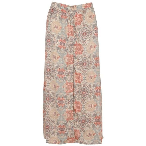 SoulCal Floral Print Womens Maxi Skirt (34 BRL) ❤ liked on Polyvore featuring skirts, floral print skirt, floral print long skirt, brown maxi skirt, maxi skirts and ankle length skirts