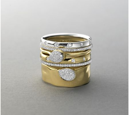 Gold Vermeil Siren Diamond Wide Band Ring - Monica Vinader