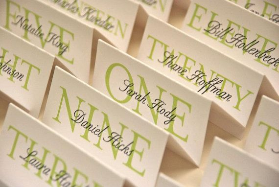 Printable, Customized Elegant Place Cards - Special Event/Wedding ...