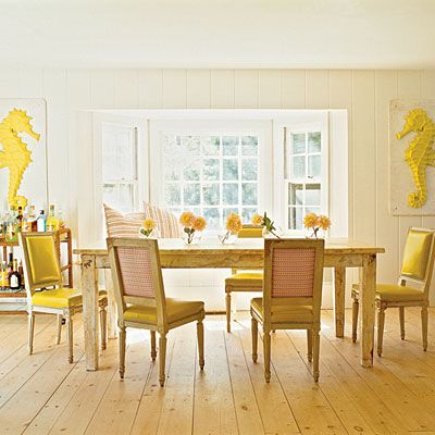 Just like My floor- a pic from coastal living-  I did mine with pine boards from Home Depot