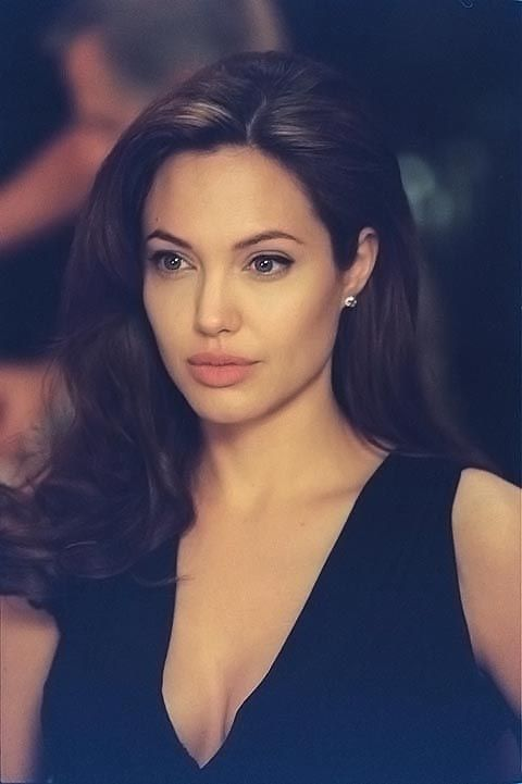 Actress Angelina Jolie, born Angelina Jolie Voight, on June 4, 1975. Her father is actor Jon Voight.