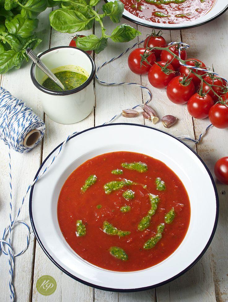 Pieczona pomidorowa z polskim pesto