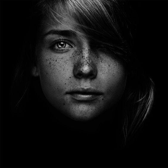 Portrait - Low Key - Freckles - Photography:
