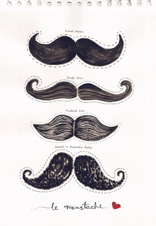 .: TUTORIAL and DIY MOUSTACHES