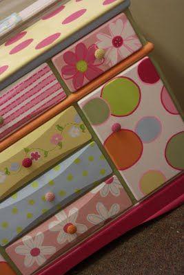 painted dresser for little girls room! SOOO cute!