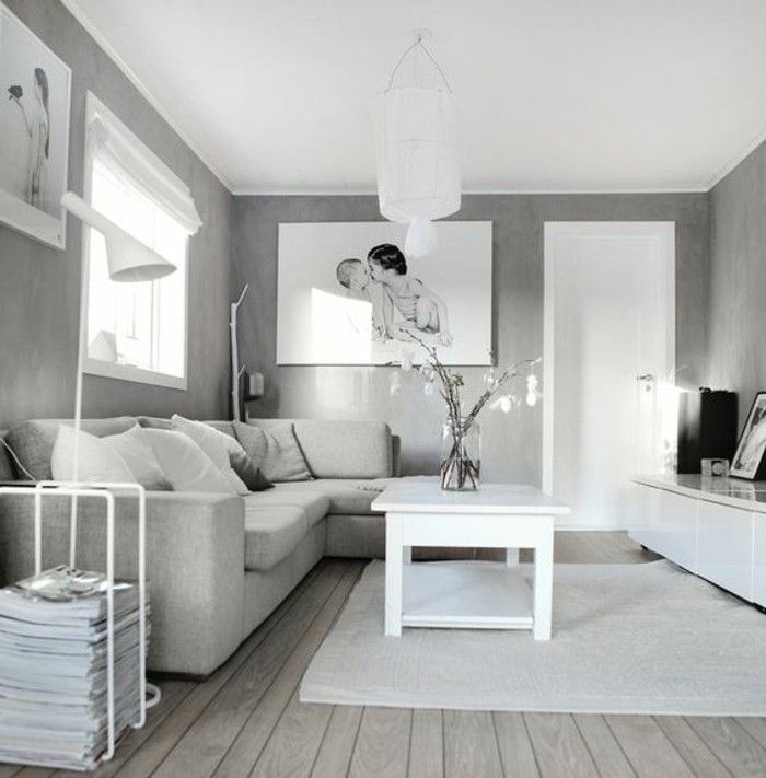 1001 Ideas For A Chic Gray And White Living Room Living