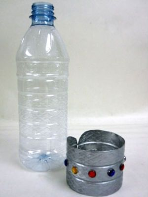 Water bottle cuff bracelet  Great for a Halloween costume or for playing dress up.