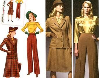 Image result for 1920 ladies trouser suits