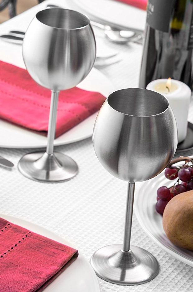 Ultra modern stainless steel wine glasses that are shatter-proof and don't let anyone judge your 11 oz. pour. | 21 Awesome Products From Amazon To Put On Your Wishlist