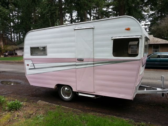 1959 Aristocrat. She'll be repainted in turquoise and