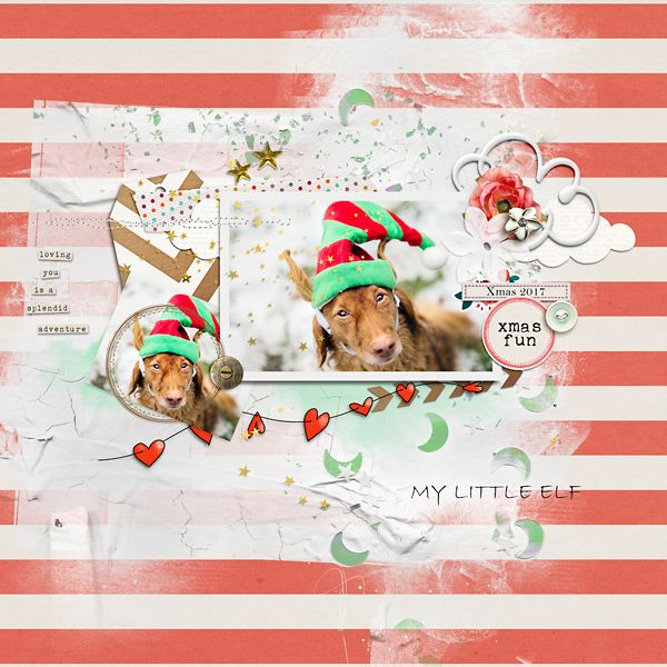 My Little Elf by Rae at The Lilypad using digital scrapbooking products from The Lilypad