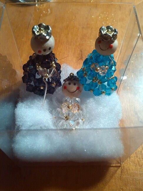 Miniatura natività di cristalli bicono e perline